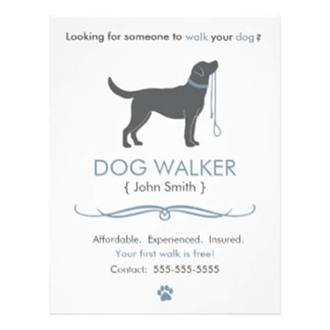 Walking Business Flyer Template Dog Walking Flyers Leaflets Zazzle Co Uk