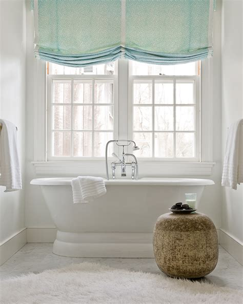 colourful roller blind bathroom turquoise roman shades transitional bathroom honey