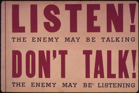 5 Donts When Talking by File Quot Listen The Enemy May Be Talking Don T Talk The