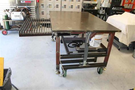 welding bench design welding table with adjustable feet workbench pinterest