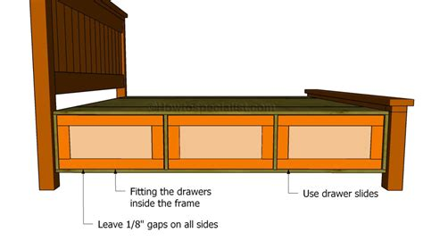 How To Make A Bed Frame With Drawers How To Build A Bed Frame With Drawers Howtospecialist How To Build Step By Step Diy Plans