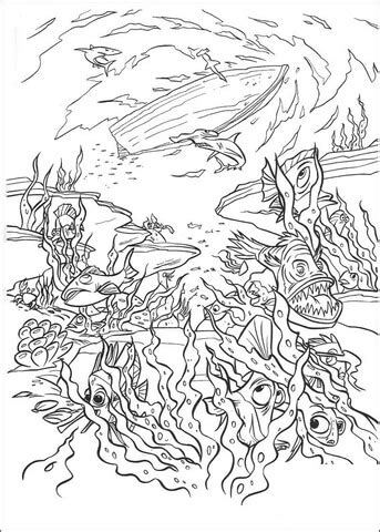 in the deep sea coloring page free printable coloring pages