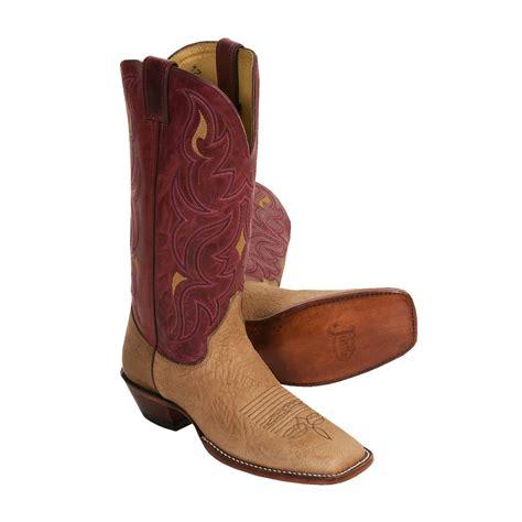 justin cowboy boots for justin boots remuda j124 toe cowboy boots 13 quot aqha for