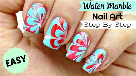 Nail Art Tutorial In Hindi | how to do easy water marble nail art step by step tutorial