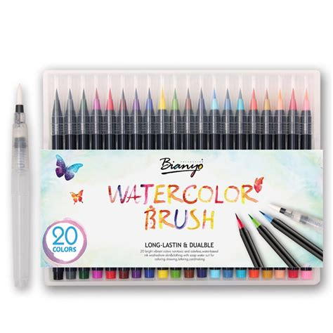 Watercolor Brush Pen Set 20 color premium painting soft brush pen set watercolor