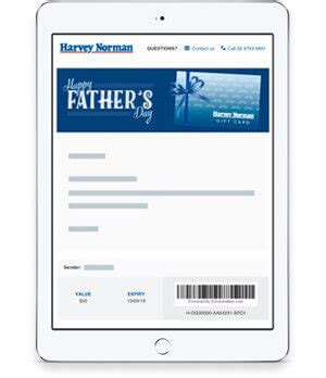 Harvey Norman E Gift Card - gift cards ecards vouchers online harvey norman australia