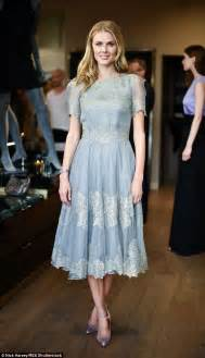 donna glass dress donna air hops across in blue lace dress and