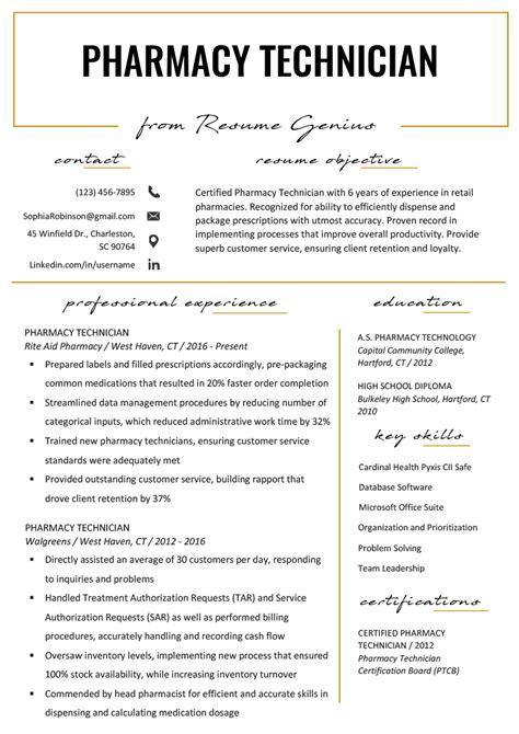 pharmacy technician resume sample from 7 sample pharmacy tech resume