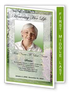 Free 4 Page Graduated Fold Funeral Program Templates Funeral Program Template Spring Garden Graduated Fold
