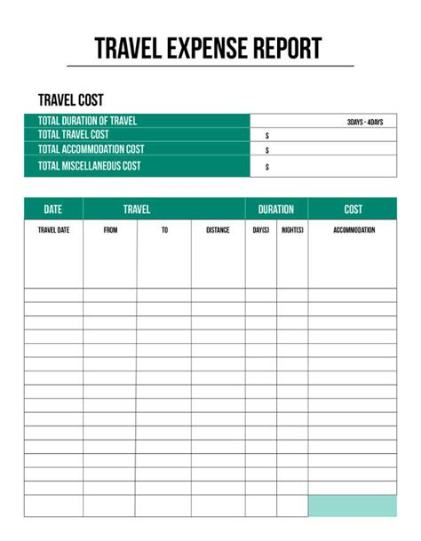 Expense Report Template 11 Free Sle Exle Format Free Premium Templates Travel Expenses Template Free