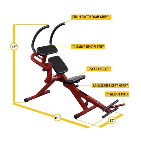 best ab bench reviews bfab20 best fitness semi recumbent ab bench body solid