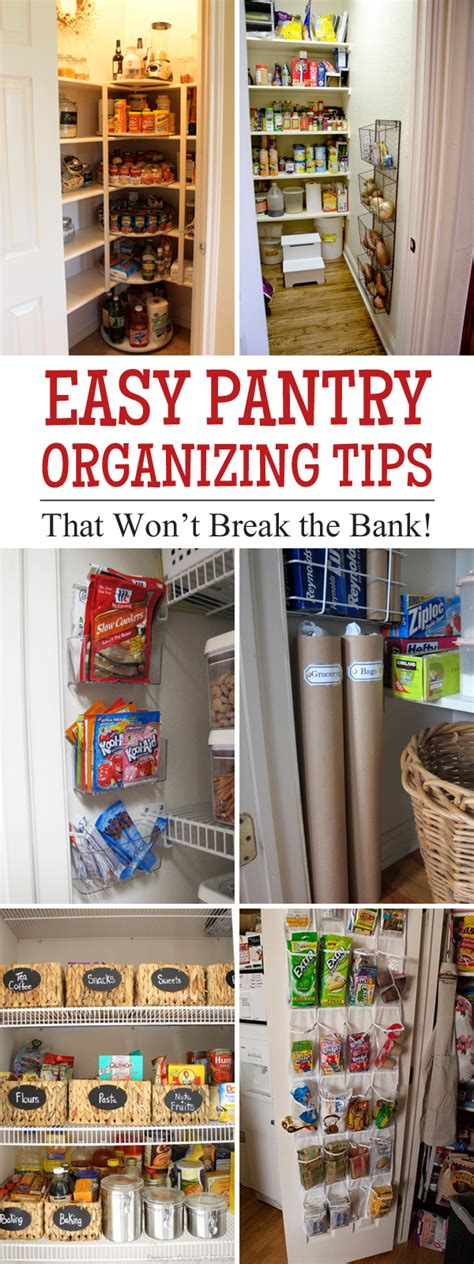 Easy Pantry by Easy Pantry Organizing Tips That Won T The Bank