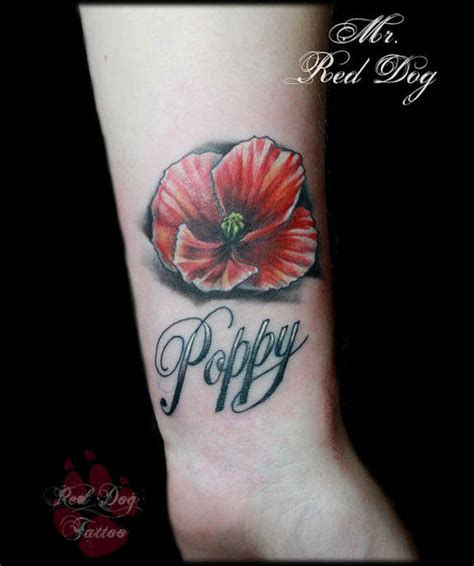 34 endearing poppy tattoos designs