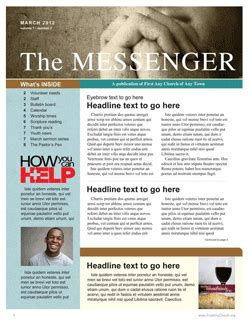 christian newsletter templates free free church newsletter template communication resources