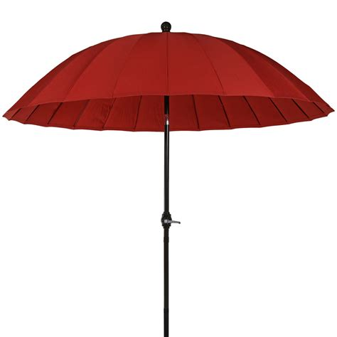 Aluminum Patio Umbrellas Sunnydaze Shanghai Aluminum 8 Foot Patio Umbrella With Tilt Crank Ebay