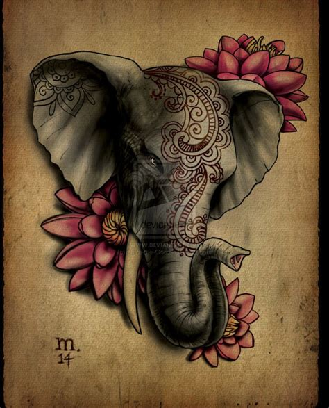 pink elephant tattoo 37 popular elephant tattoos collection