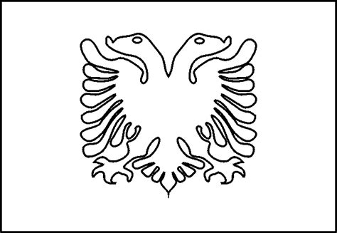 Albanian Flag Outline by Free Jam Eagle Coloring Pages