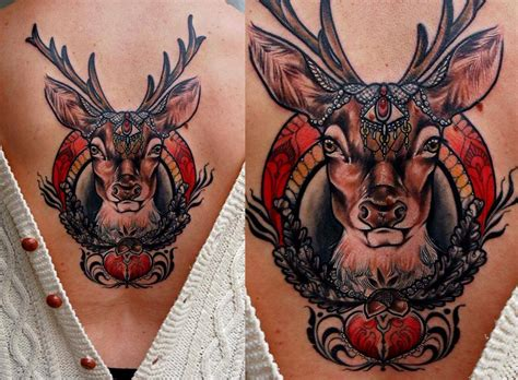 tattoo prices red deer deer head tattoo on back
