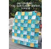 Cocoa Pie Tutorial  Personalized Baby Boy Flannel Rag Quilt/Cuddle