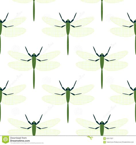 pattern matching over vector vector illustration of stylized dragonfly isolated on