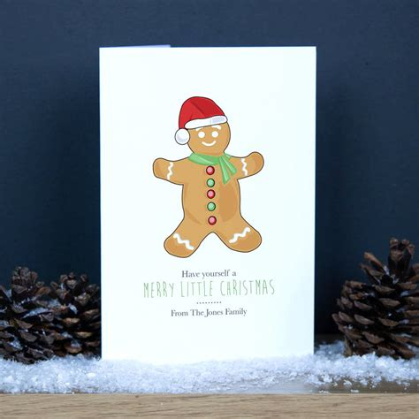 free printable christmas card with gingerbread man personalised gingerbread man christmas card by able labels