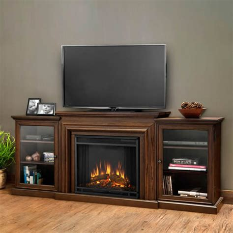 real media console electric fireplace