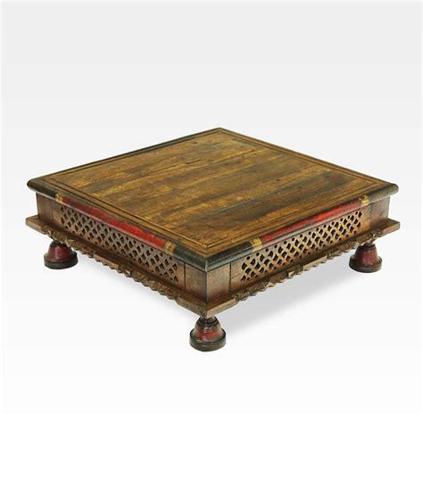 tavolo indiano tavolino indiano quadrato intagliato legno di mango