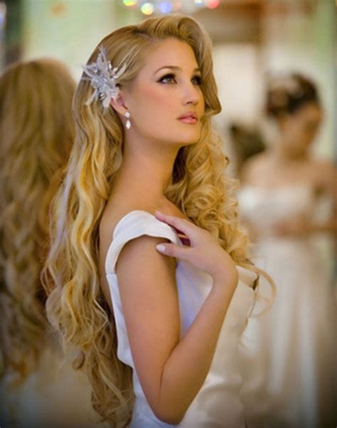 Loose Wave Wedding Hairstyle to Cover Ears   Women Hairstyles