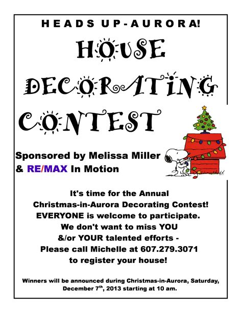 christmas contest voting flyer decorating contest flyer photograph aurorafest c