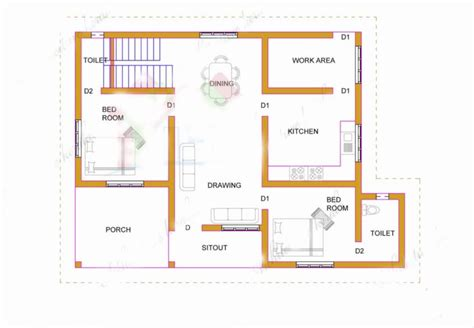 900 square feet in meters 900 square feet 2 attached bedroom low budget home design