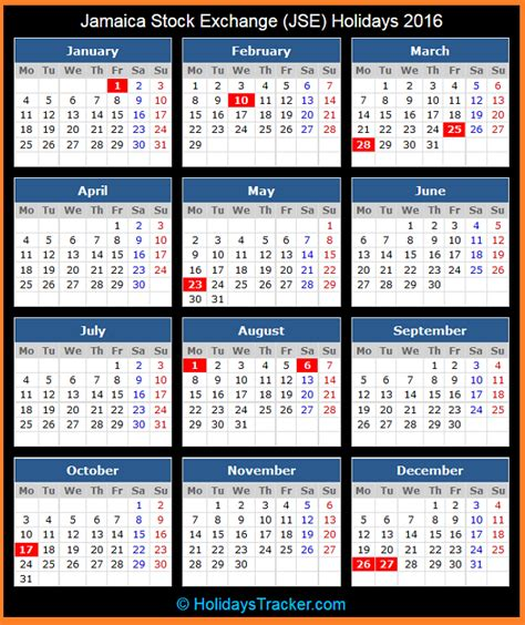 printable calendar 2014 jamaica with holidays jamaica stock exchange jse holidays 2016 holidays tracker