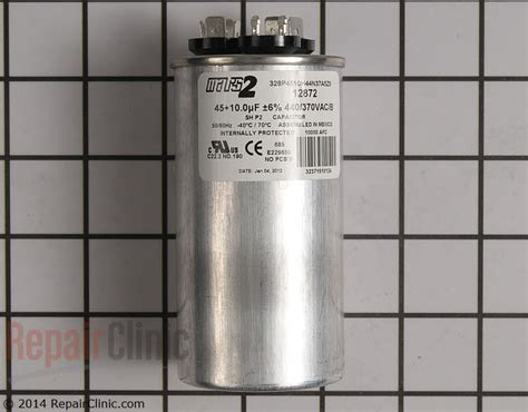 lennox air conditioner capacitor replacement dual run capacitor c4dr4510 repairclinic