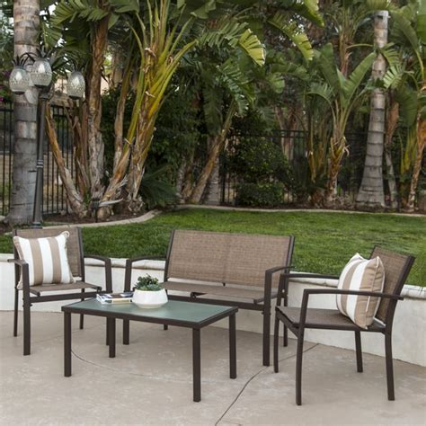 choice products  piece outdoor patio metal