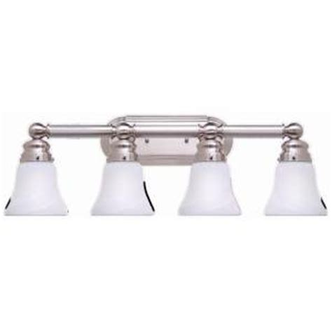 hton bay bathroom lighting hton bay 4 light brushed nickel bath light vanity