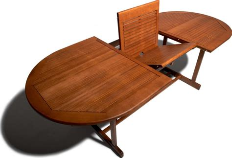 Expandable Patio Table with Strathwood Sheffield Hardwood Oval Expandable Table