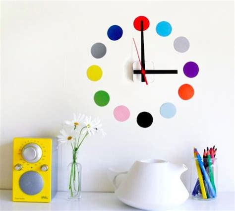 stick on wall colorful adhesive clocks stick on wall clock