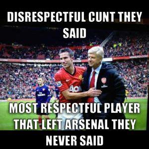 Football Memes Arsenal - football meme van persie real football pinterest