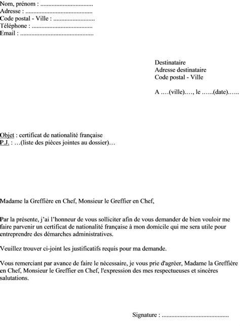Exemple De Lettre Demande De Nationalité Française Lettre De Motivation Nationalite Employment Application