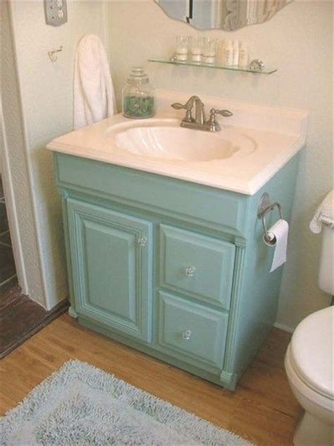 painted aqua bathroom vanity featheryboa bath ideas