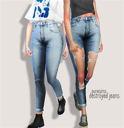 Sims 4 Jeans | pure sims destroyed jeans sims 4 downloads