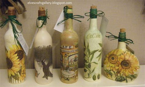 Decoupage Glass Bottles - elves crafts gallery glass bottles decoupage