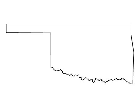 template of state oklahoma pattern use the printable outline for crafts creating stencils scrapbooking and