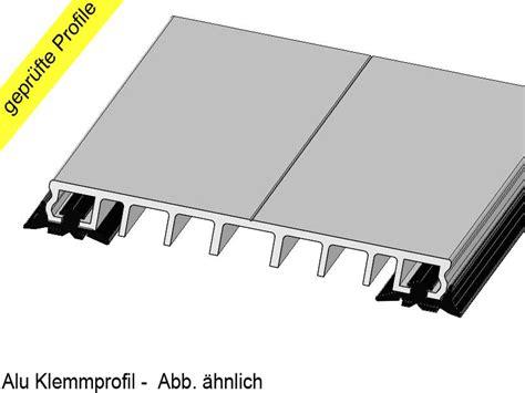klemmprofile glasdach alu klemmprofile p 100 e mit epdm dichtung schwarz 100mm