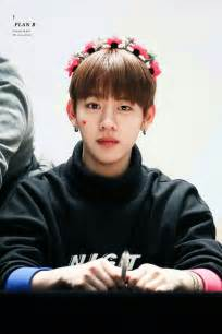 Daehyun wearing a flower crown image 4194889 by kristy d on favim
