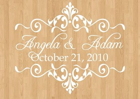 wedding floor decals wedding monogram by