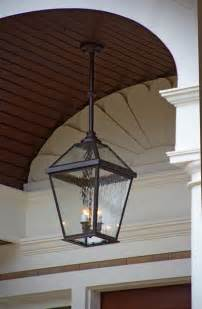 Hanging Foyer Light London Lantern Porch Light Close Up Traditional