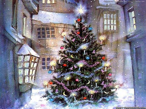 christmas tree with house wallpaper wallpapers hd wallpapers desktop wallpapers white tree wallpaper