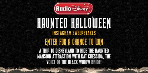 Radio Disney Sweepstakes - radio disney haunted halloween instagram sweepstakes rdhauntedsweepstakes