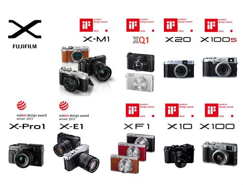 fuji x series five wins for fujifilm at the 2014 if product design