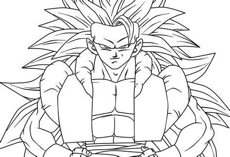 goku ss4 coloring pages ss4 gogeto free coloring pages